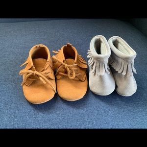 Baby Moccasins Gap and Unbranded 2 Sizes